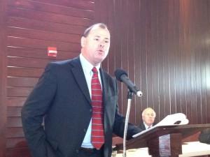 DNR Secretary Joe Gill giving the event's Keynote Speech