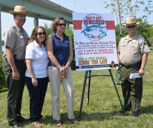 NRP and DNR fisheries managers kick off the Don't Get Pinched campaign in Annapolis
