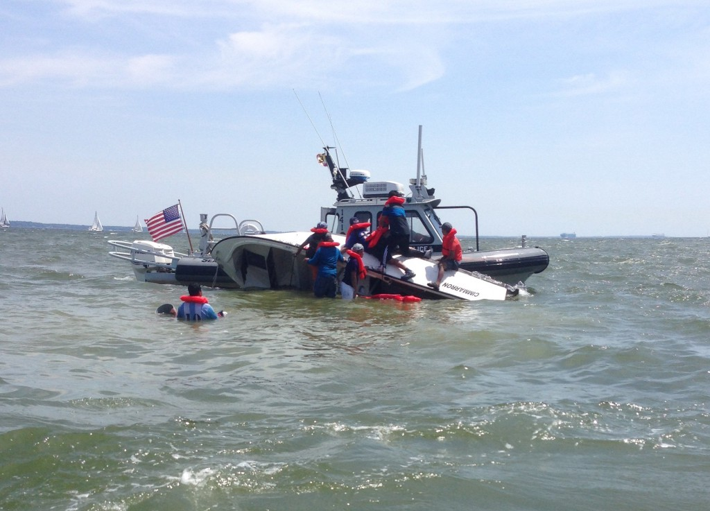 NRP 141 rescues seven fishermen in Whitehall Bay outside Annapolis Photo courtesy of Cory Russell