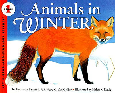 Photo of: Animals in Winter book cover featuring an illustrated fox