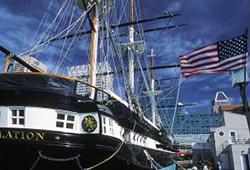 The USS Constellation in Baltimore's Inner Harbor