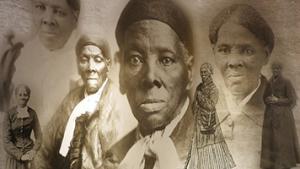 Harriet Tubman mural at te Harriet Tubman Underground Railroad State Park & Visitors Center