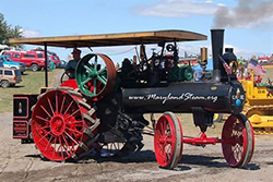 Photo of tractor with steam engine