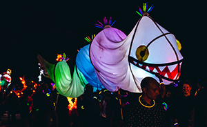 The Lantern Parade in Patterson Park, Baltimore