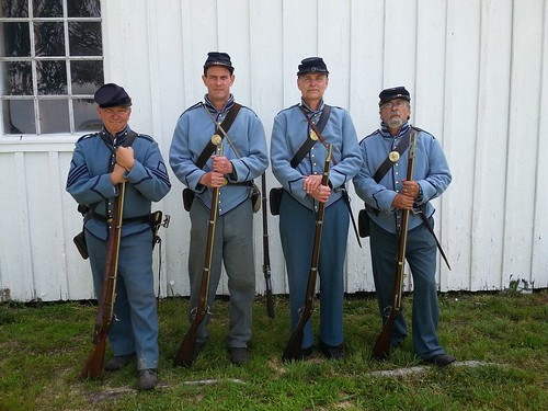 Reenactors at Time Line Weekend at Point Lookout State Park