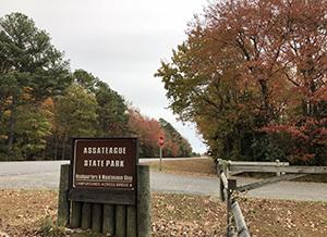 Assateague State Park Entrance, photo by Angela Baldwin
