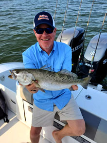 20 inch speckled trout - Photo courtesy of Bob Bruns
