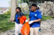 Baltimore High School students cleanup