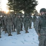 Officer candidates reach halfway point in traditional program