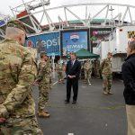 Secretary of the Army Visits FedEx Screening Site