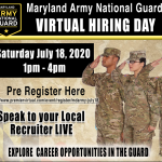 Virtual Hiring Day and Career Fair for the Maryland Army National Guard